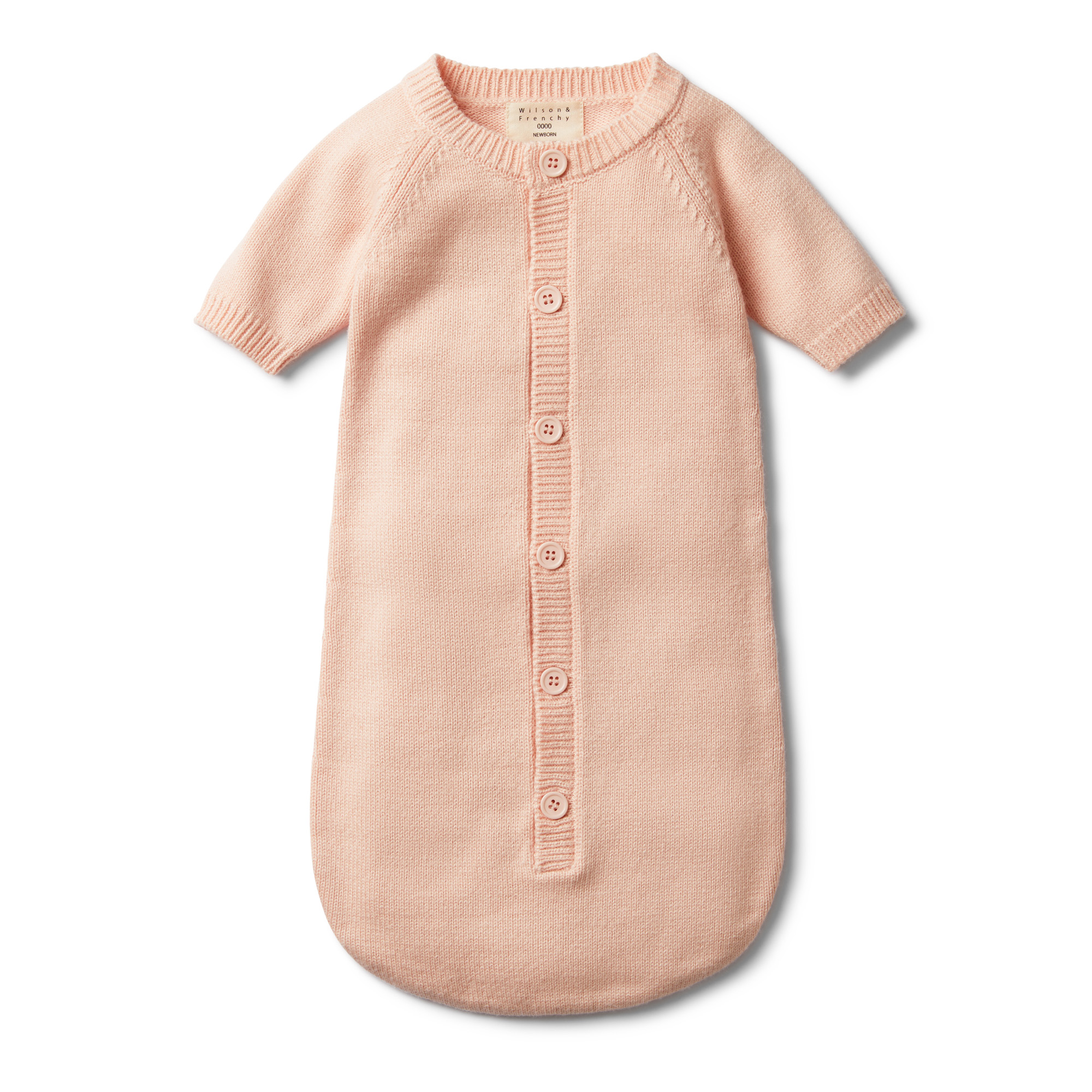 Wilson & Frenchy Peachy Pink Cocoon Sleeper Baby Clothes