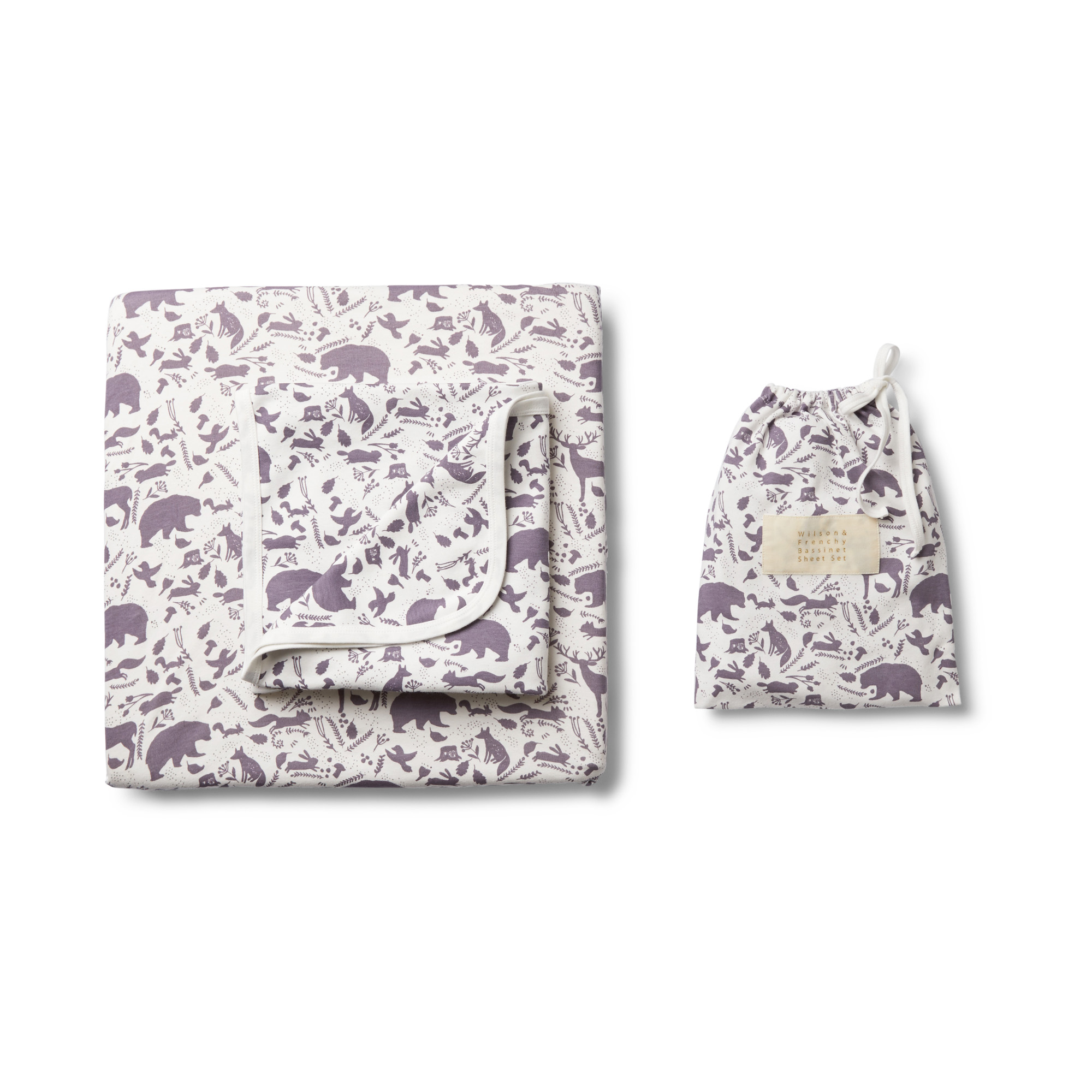 Wilson and Frenchy Girls Wild Woods Cot Sheet Set
