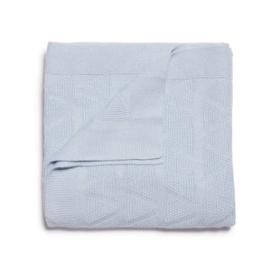 Wilson and Frenchy Cashmere Blue Knit Blanket