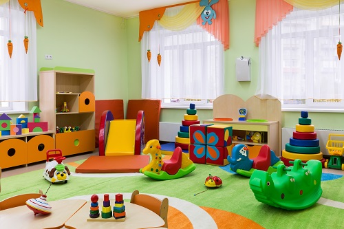 Colourful Childrens room with Toys