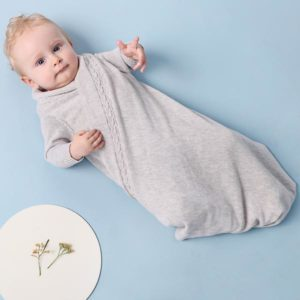 JujoBaby Grey Melange Cable Edge Schwrap