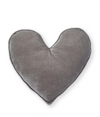 Nana Huchy Large Grey Velvet Heart Cushion
