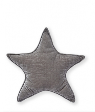 Nana Huchy Large Grey Velvet Star Cushion