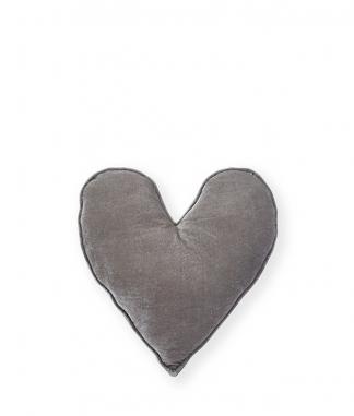 Nana Huchy Small Grey Velvet Heart Cushion