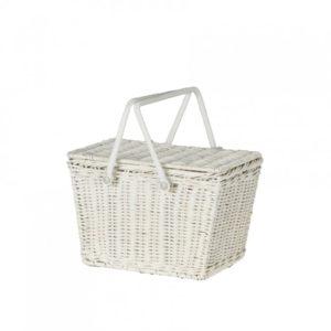 Olli Ella White Piki Basket