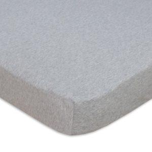 Living Textiles Cot Sheet Grey Melange