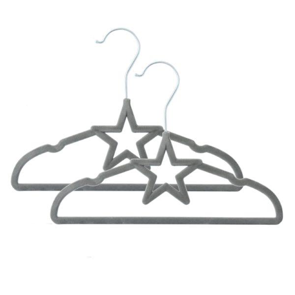 Living Textiles Grey Star Coat Hangers