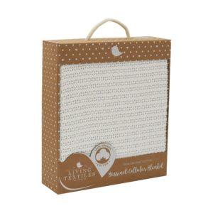 Living Textiles Organic Bassinet Cellular Blanket White