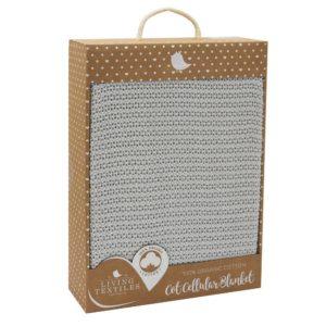 Living Textiles Organic Cot Cellular Blanket Grey