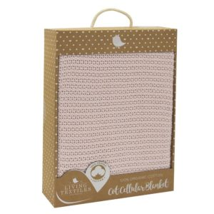 Living Textiles Organic Cot Cellular Blanket Pink