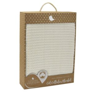Living Textiles Organic Cot Cellular Blanket White