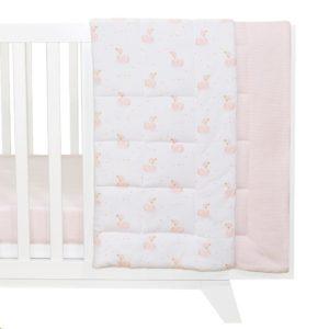 Living Textiles Reversible Cot Comforter Swan Princess