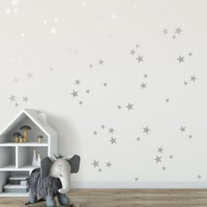 Living Textiles Silver Stars Wall Decals
