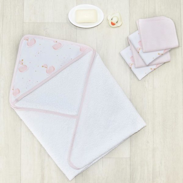 Living Textiles Swan Princess Bath Gift Set