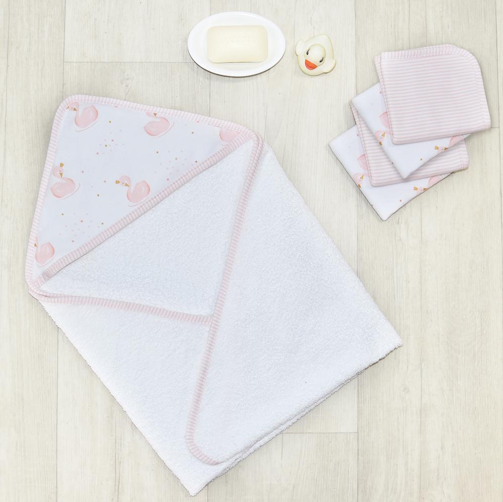 8fdf6e8f54527 Living Textiles Swan Princess Bath Gift Set