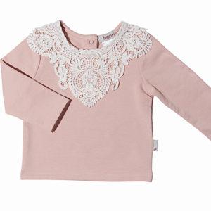 Love Henry Pink Lace Motif Onesie
