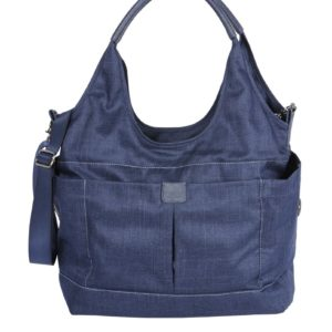 Oioi Tote Slouch Nappy Bag Denim Blue