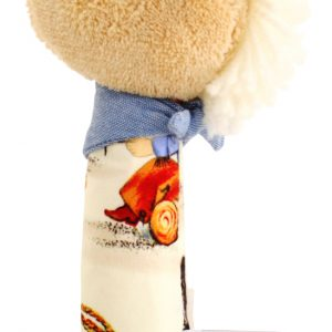 Alimrose Horse Squeaker Cream Cowboy