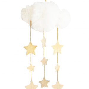 Alimrose Tulle Cloud Mobile Ivory & Gold