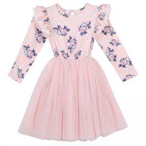 Designer Gracey Floral Tutu Pink