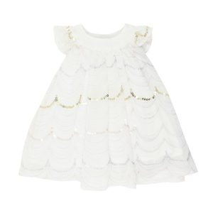 Bebe Short Sleeve Embroidered Dress