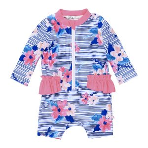 Bebe Elle Floral Long Sleeve Sunsuit