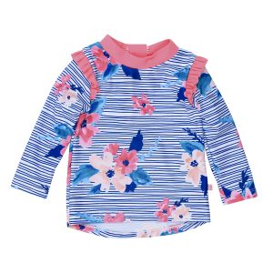 Bebe Elle Floral Long Sleeve Rash Vest