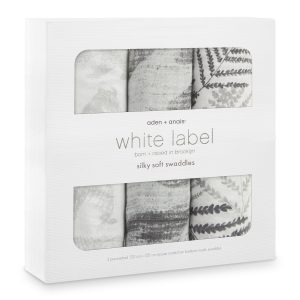 Aden + Anais Foragers White Lable Silky Soft Swaddles