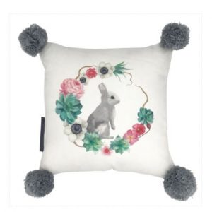 And The Little Dog Bunny in the Garden Cushion