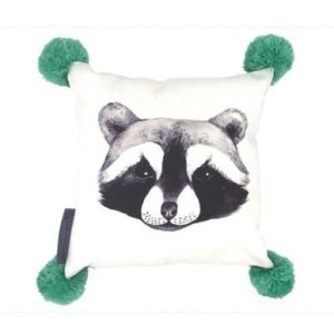 And The Little Dog Rolf Raccoon Cushion
