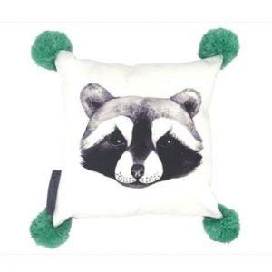 And The Little Dog Rolf Raccoon Cushion