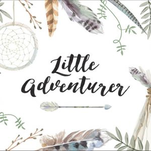 Ginger Monkey Boys Little Adventurer Print