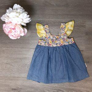 Love Henry Hattie Dress Blue Spots