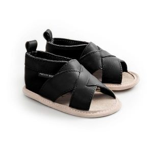 Pretty Brave Cross-Over Sandal Castle Black