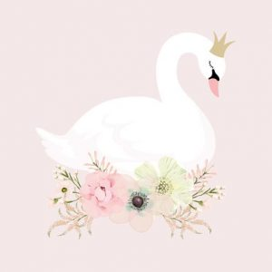 Ginger Monkey Swan Princess Print
