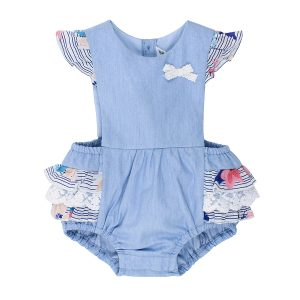 Bebe Abby Chambray Playsuit