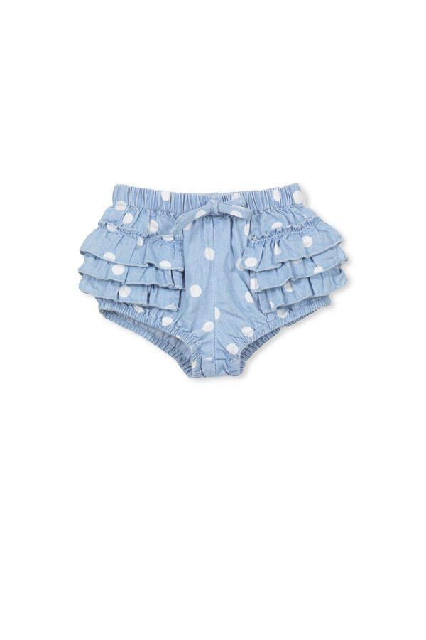 Milky Chambray Spot Shorts