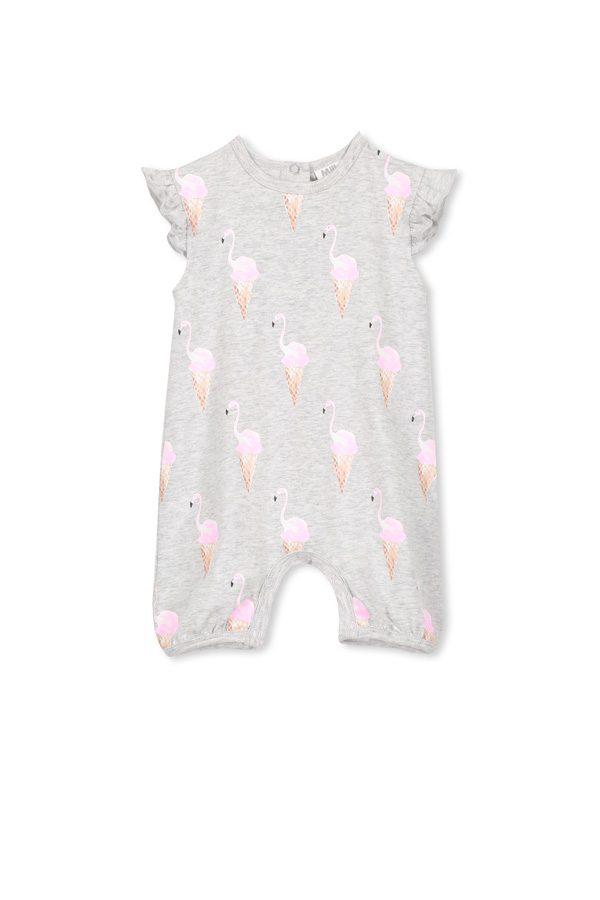 Milky Flamingoes Romper