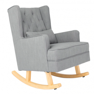 Il Tutto Aria Rocking Chair & Ottoman Natural Legs