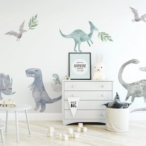 Ginger Monkey Dinosaur Decals