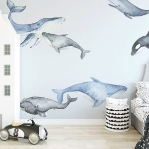 Ginger Monkey Whale Decals