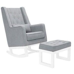 Il Tutto Casper Rocking Chair & Ottoman White Legs