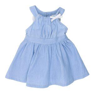 Bebe Abby Chambray Lace Dress