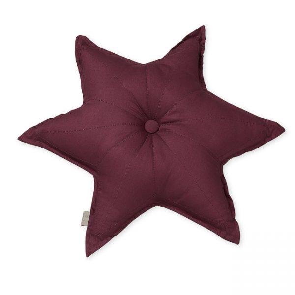 Cam Cam Bordeaux Star Cushion