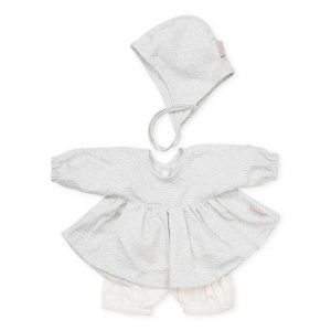 Cam Cam Copenhagen Doll's Clothing Set & Bonnet Grey Wave