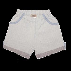 Love Henry Alfie Shorts Grey Herringbone