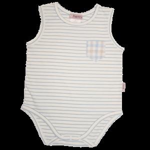 Love Henry Blue Stripe Pocket Romper