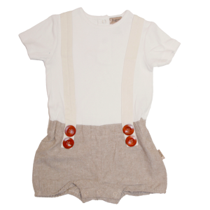 Love Henry Digby Romper Tan Chambray
