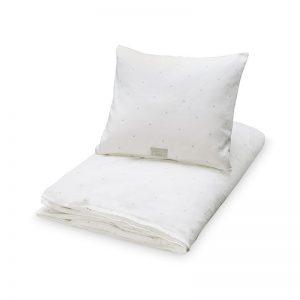 Cam Cam Copenhagen Creme Grey Dots Cot Bedding
