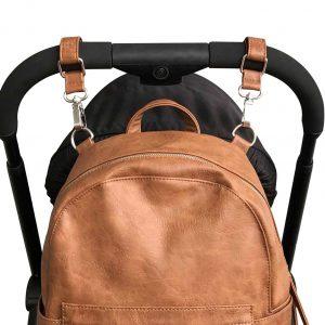 Vanchi Pram Caddy/Bag Clips Tan